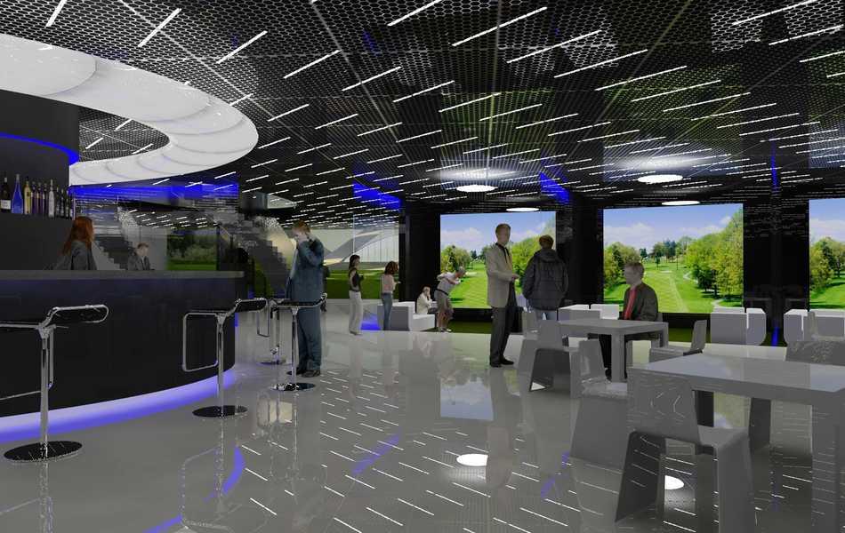 Indoor golf arena for Indoor golf design